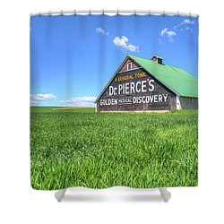 Golden Medical Discovery Shower Curtain
