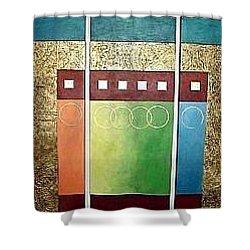 Golden Mesa Shower Curtain