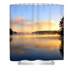 Golden Mist Shower Curtain
