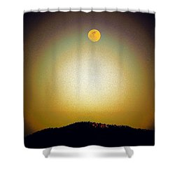 Shower Curtain featuring the photograph Golden Moon by Joseph Frank Baraba