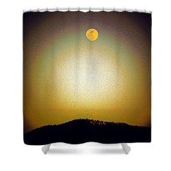 Golden Moon Shower Curtain by Joseph Frank Baraba