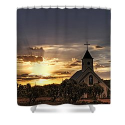 Golden Morning Light  Shower Curtain by Saija  Lehtonen