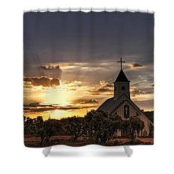 Golden Morning Light  Shower Curtain by Saija  Lehtonen