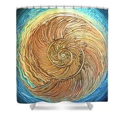 Golden Nautilus Shower Curtain