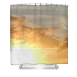 Golden Oahu Sunset Shower Curtain