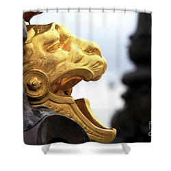 Golden On The Pont Alexandre Shower Curtain by John Rizzuto