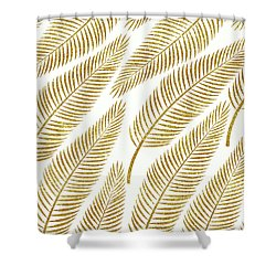 Golden Palm Shower Curtain