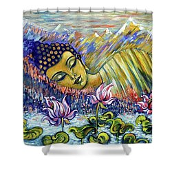 Golden Peace Shower Curtain