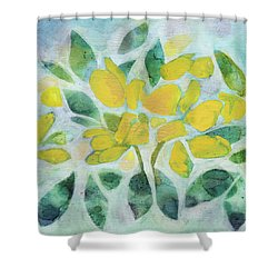 Golden Pea In Bloom Shower Curtain