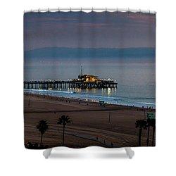 Golden Pier Shower Curtain