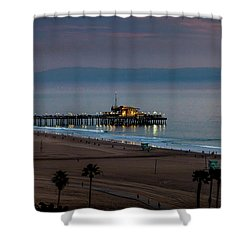 Golden Pier Shower Curtain