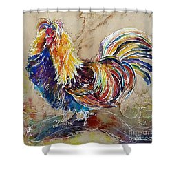 Golden Polish Chicken Shower Curtain