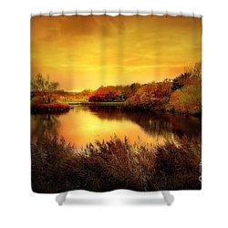 Golden Pond Shower Curtain by Jacky Gerritsen