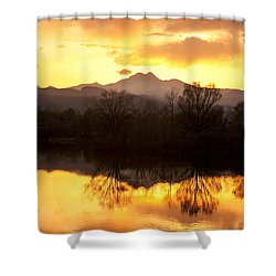 Golden Ponds Longmont Colorado Shower Curtain