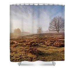 Golden Posbank Shower Curtain