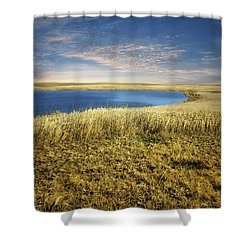 Golden Prairie Shower Curtain
