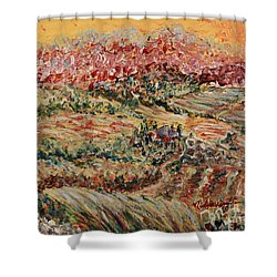 Golden Provence Shower Curtain by Nadine Rippelmeyer