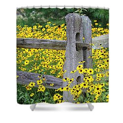 Golden-rod  Crowd Out Shower Curtain