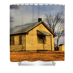Shower Curtain featuring the digital art Golden Rule Days by Sharon Batdorf
