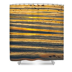 Golden Sand On Beach Shower Curtain