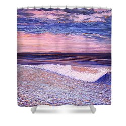 Golden Sea Shower Curtain by Jeanette Jarmon