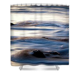 Golden Serenity Shower Curtain