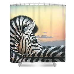 Shower Curtain featuring the painting Golden Sky by Mike Brown