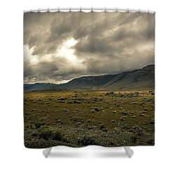 Golden Storm Shower Curtain by Andrew Matwijec
