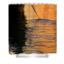 Golden Stroke Shower Curtain