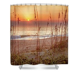 Golden Sunrise Shower Curtain by David Cote
