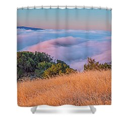 Golden Sunrise Shower Curtain