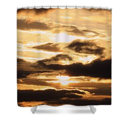 Golden Sunset Shower Curtain by Carol Groenen