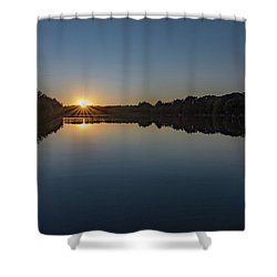 Shower Curtain featuring the photograph Golden Sunset by Charles Kraus