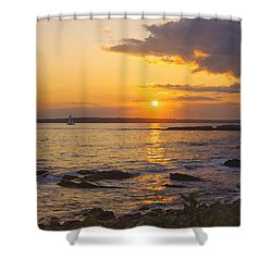 Golden Sunset Newport Shower Curtain