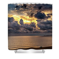 Golden Surf - Point Dume, California Shower Curtain