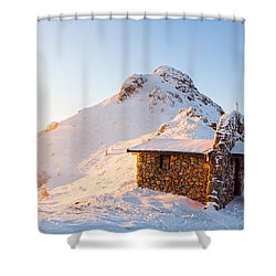 Golden Temple Shower Curtain by Evgeni Dinev