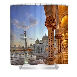 Golden Temple Shower Curtain by John Swartz