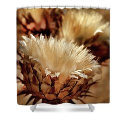 Shower Curtain featuring the digital art Golden Thistle II by Bill Gallagher
