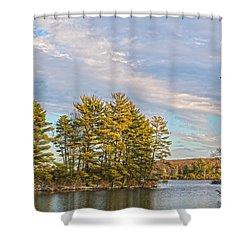 Golden Tiorati Shower Curtain