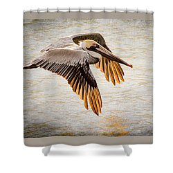 Golden Tips Shower Curtain