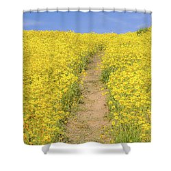 Shower Curtain featuring the photograph Golden Trail by Marc Crumpler