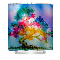 Da183 Golden Tree Daniel Adams Shower Curtain