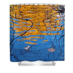 Golden Tree Shower Curtain by Kathi Mirto