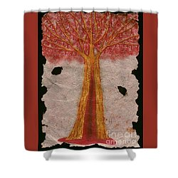 Golden Trees Crying Tears Of Blood Shower Curtain by Talisa Hartley