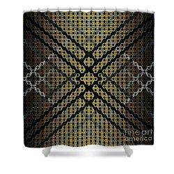 Golden Tri Shower Curtain