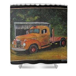Golden Truck  Shower Curtain