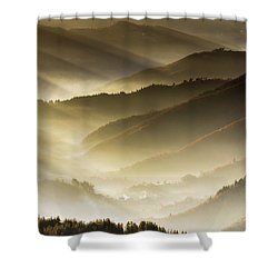 Golden Valley Shower Curtain by Evgeni Dinev