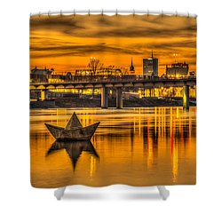Golden Vistula Shower Curtain