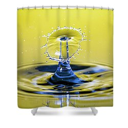 Golden Water Drop Umbrella Shower Curtain