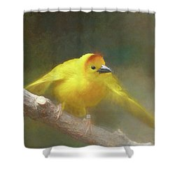 Golden Weaver - Digital Painting Shower Curtain
